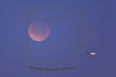 Full lunar eclipse, a star, and a plane on its way into SLC airport. 10Dec11