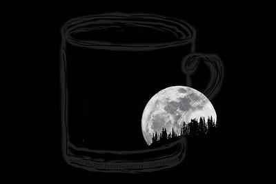 Moonrise over Lone Peak Wilderness #4 - 7Mar12